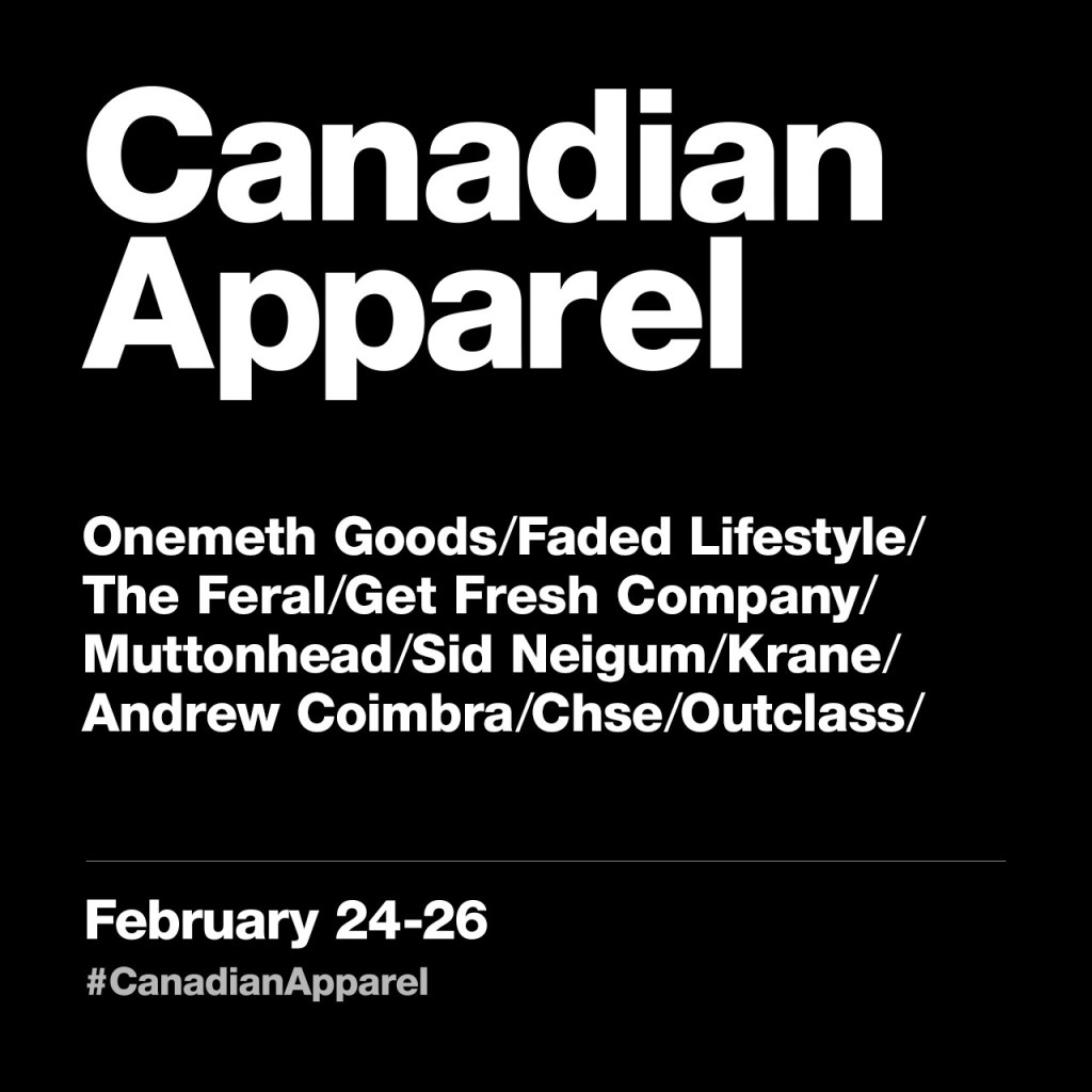 Canadian Apparel Pop Up Toronto