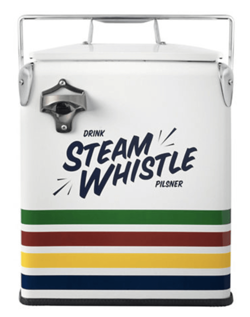 HBC x Steam Whistle collaboration cooler