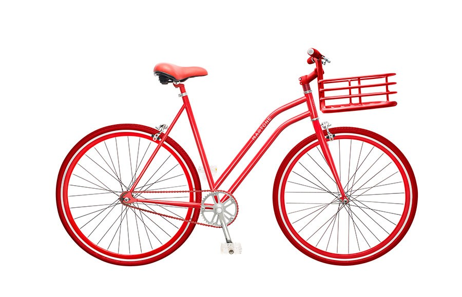 martone cycling co red bike