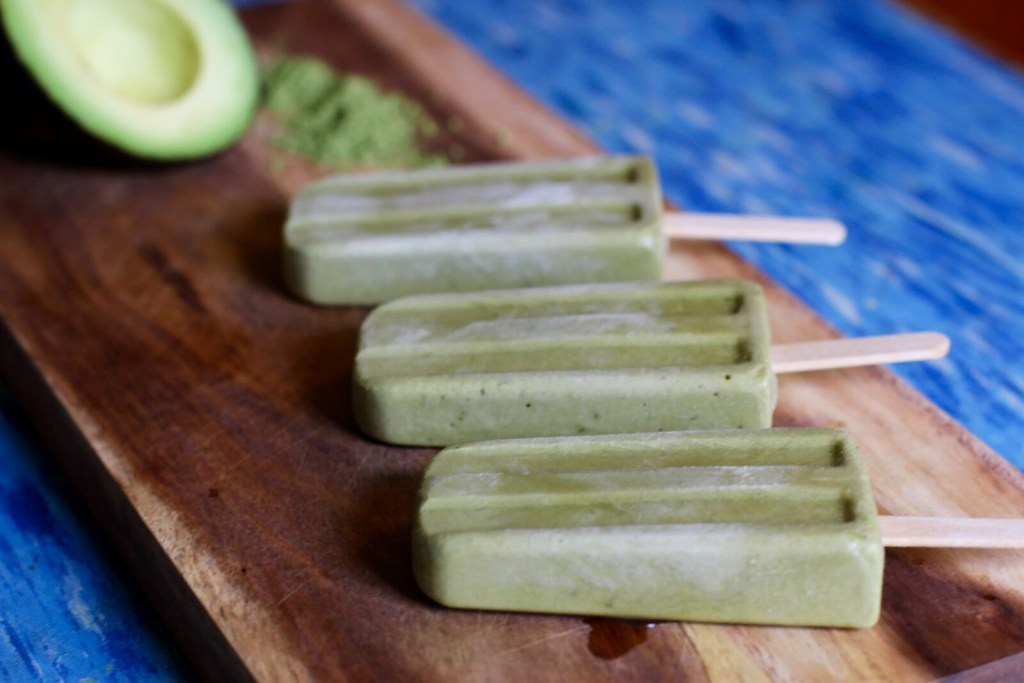 Gracie Carroll - Healthy Homemade Vegan Avocado Matcha Popsicles Recipe