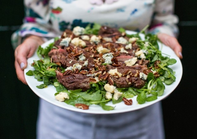 5 must-try Clodagh McKenna Recipes - Steak Salad with Blue Cheese and Honey