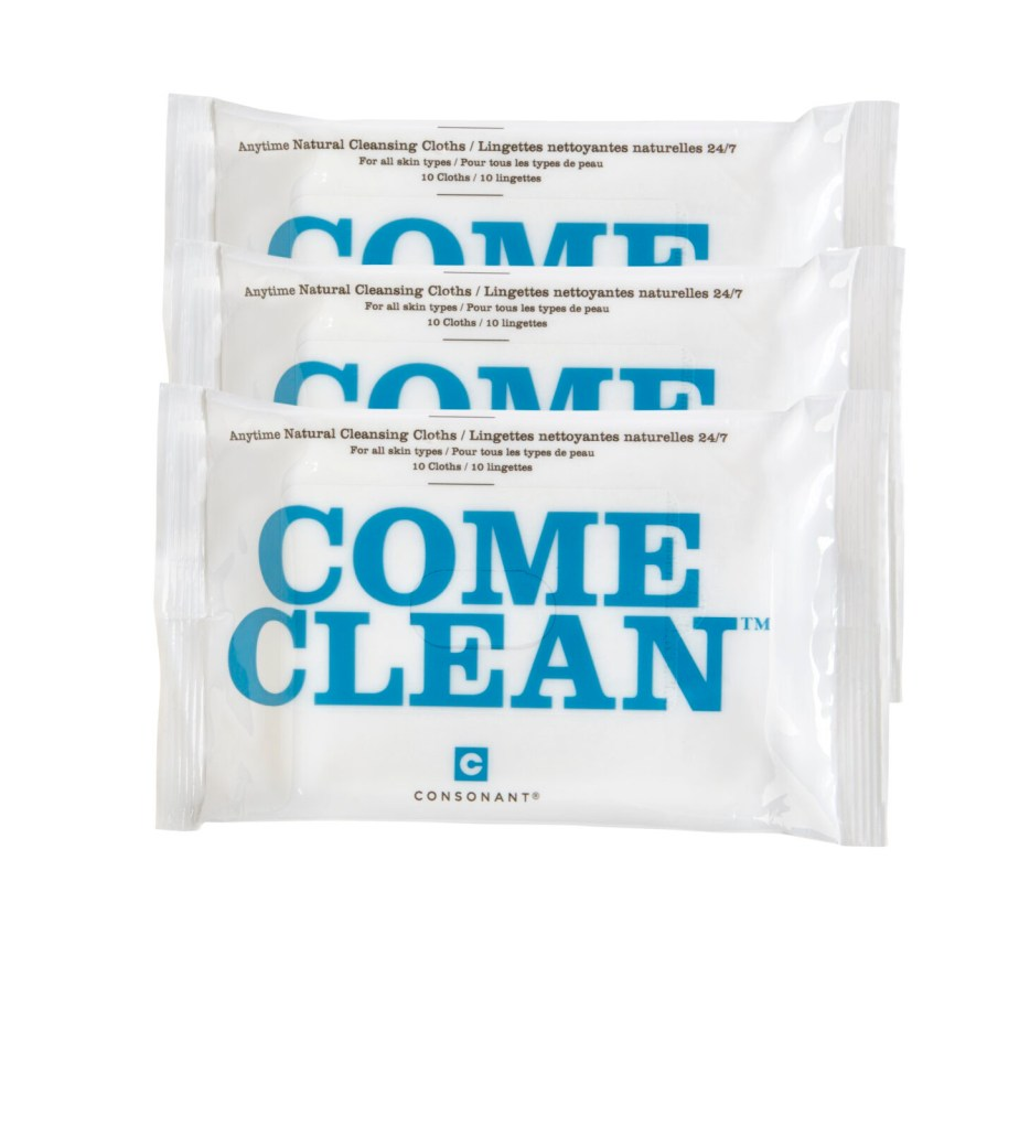 Consonant Skincare, Come Clean Wipes