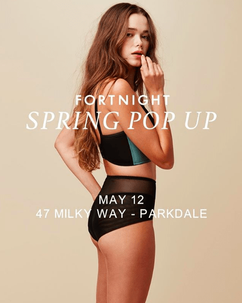 fortnight lingerie pop-up toronto