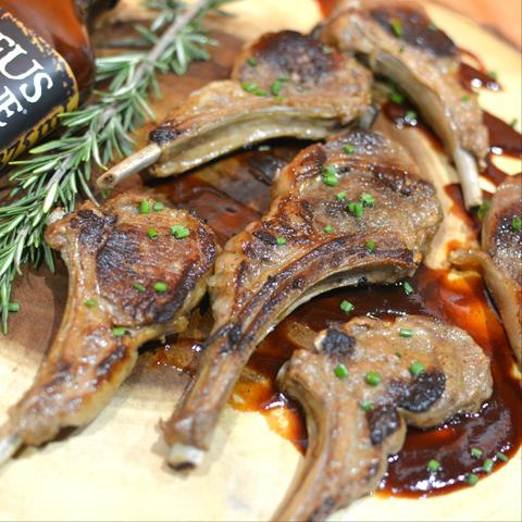 beer marinated bbq lamb chops