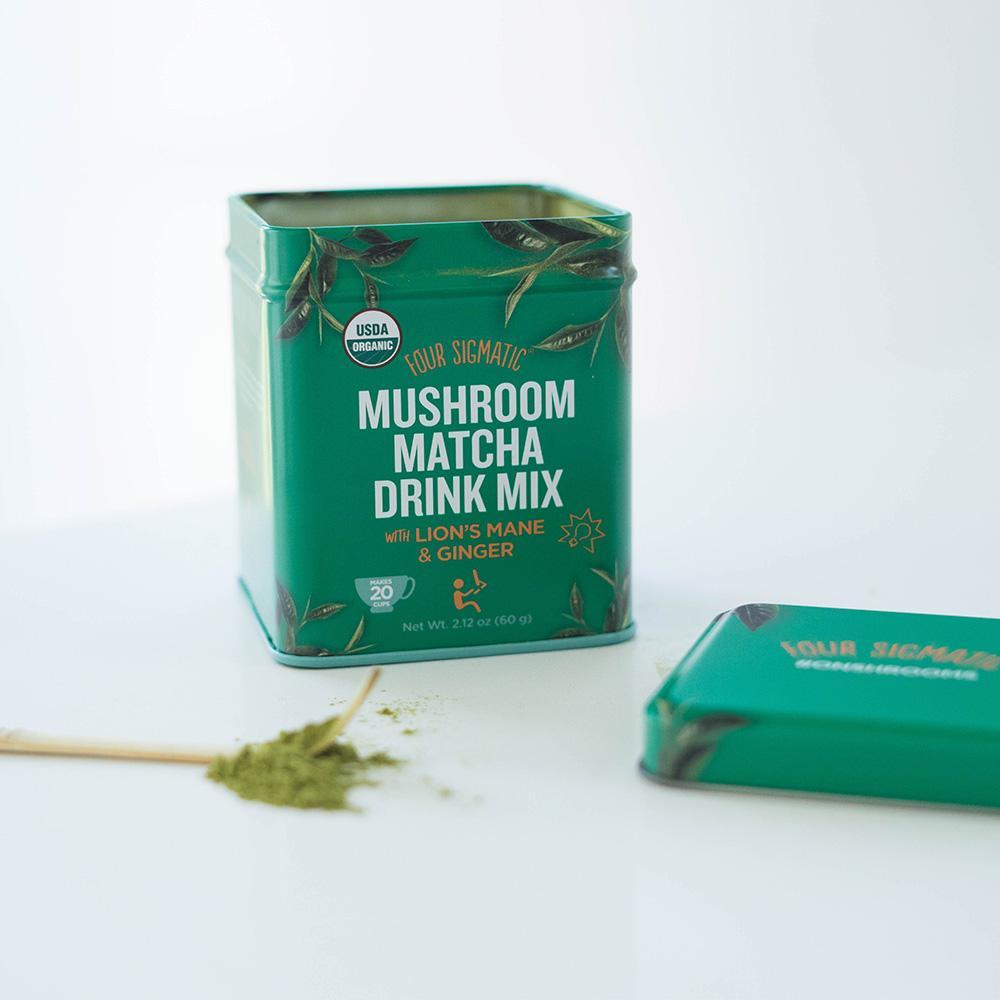 four sigmatic mushroom matcha drink