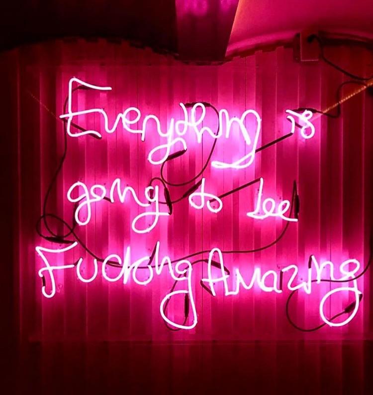 neon sign pink edit seven toronto