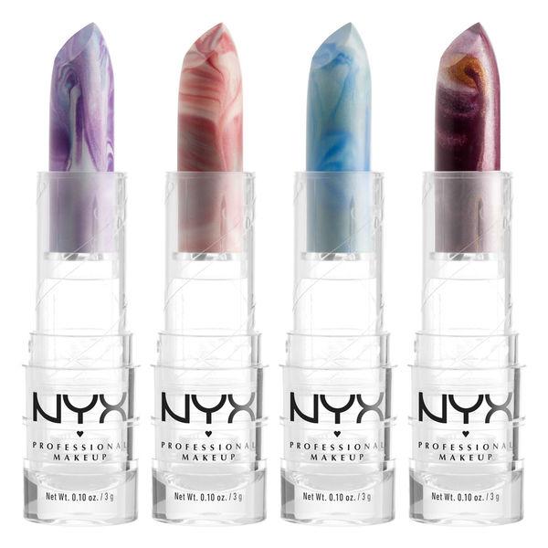 NYX Cosmetics marble lipsticks 2018
