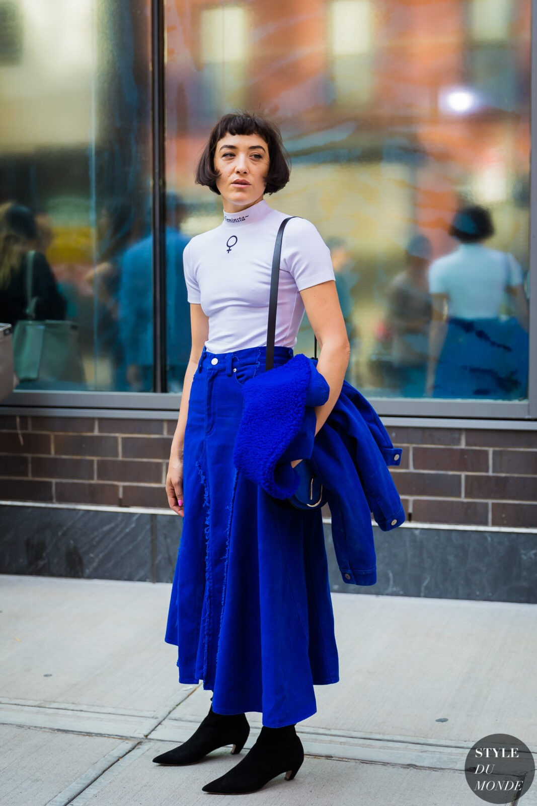 Mia Moretti denim skirt edit seven stylebook