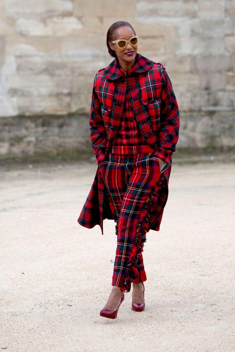 Michelle Elie tartan skirt edit seven stylebook toronto 2018