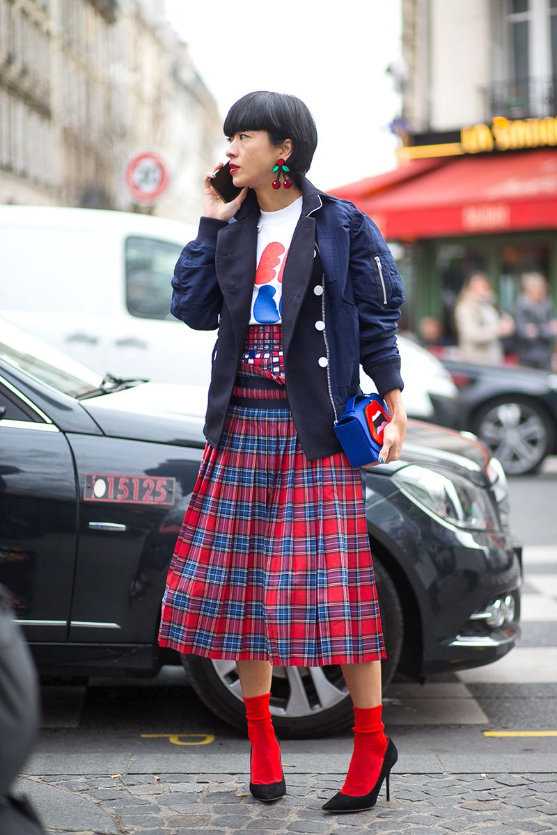 tartan skirt edit seven stylebook toronto 2018