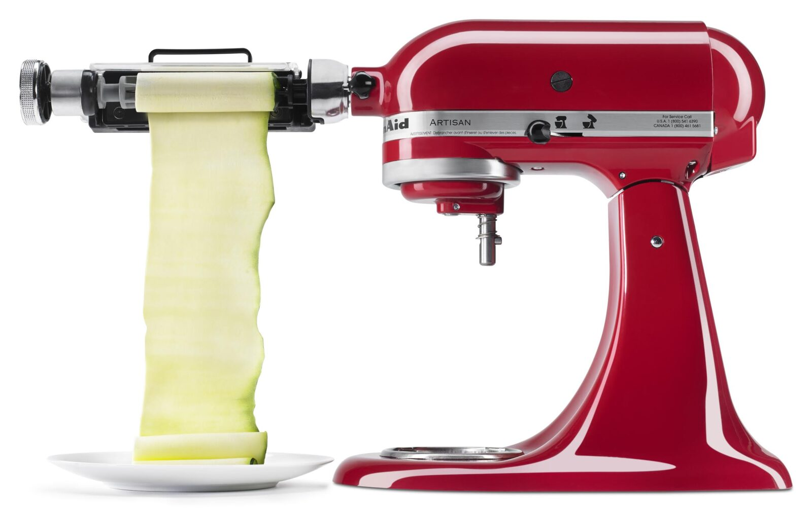 KitchenAid's Mini Mixer Vegetable Sheet Cutter Attachment