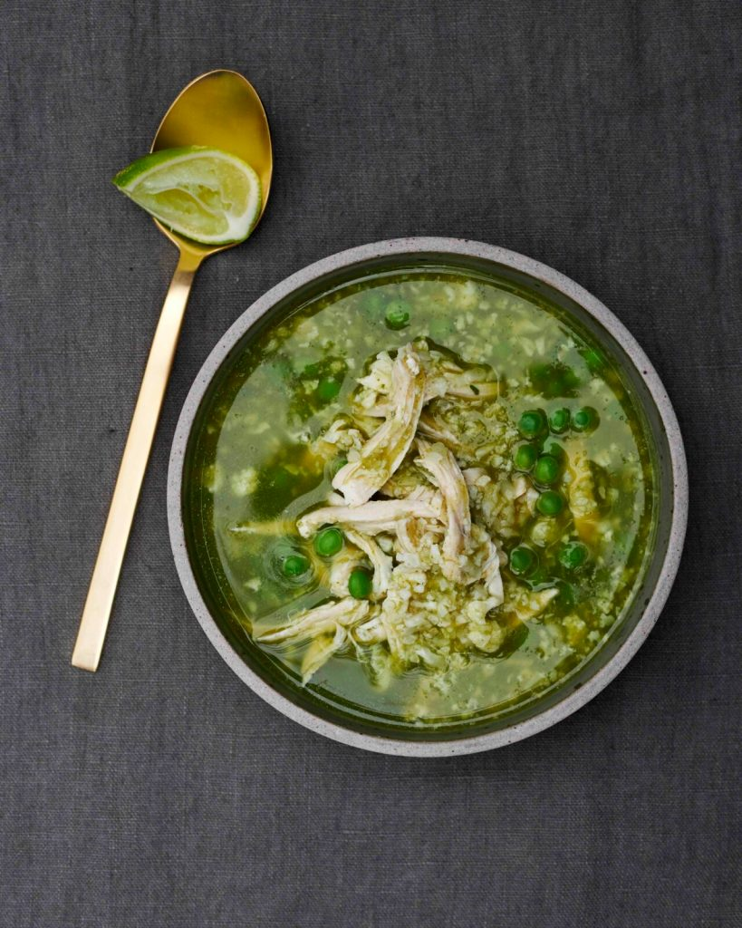 Gwyneth Paltro PERUVIAN_CHICKEN_CAULI_RICE_SOUP recipe - The Clean Plate Cookbook