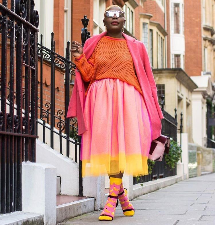Amber Olajide stylebook socks and heels editseven