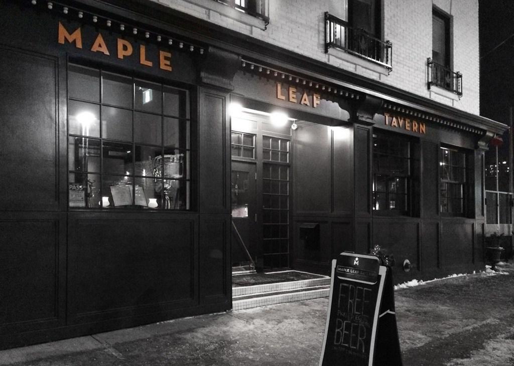 maple leaf tavern toronto