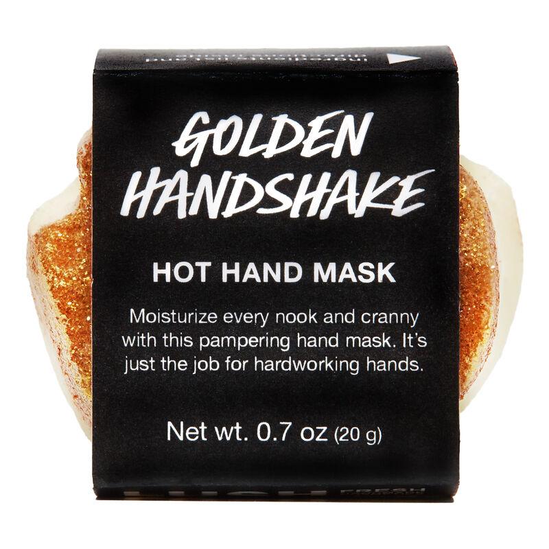 lush Golden Handshake hand mask