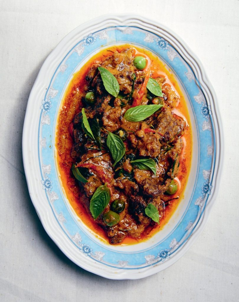 panang beef dish by chef nuit