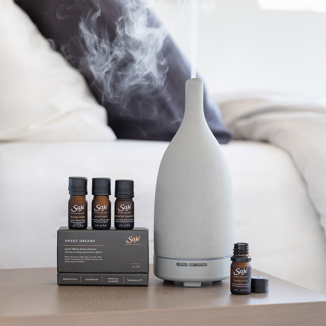 Saje diffuser with diffuser blends