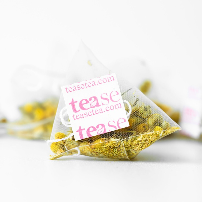 chamomile tea bag from Tease Tea