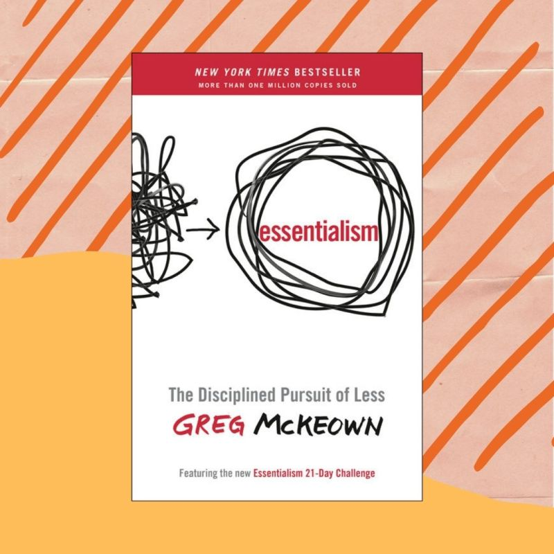Essentialism self-help book cover