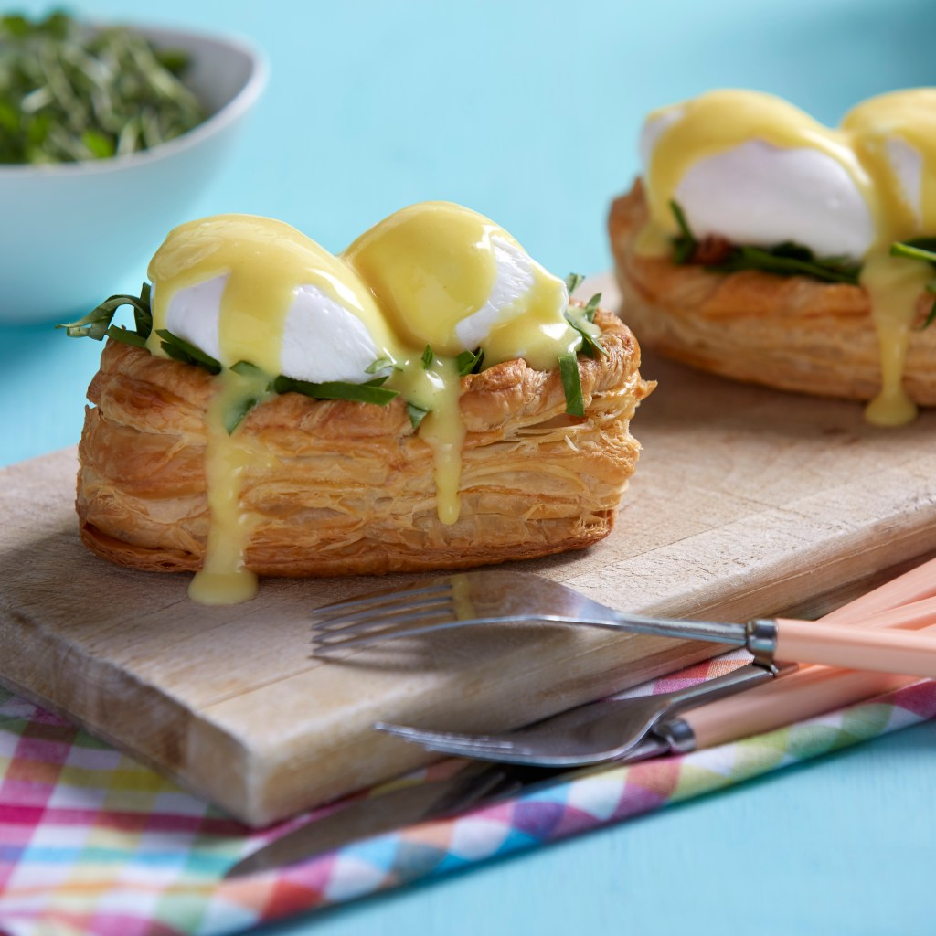 puff pastry eggs benedict for easter sunday