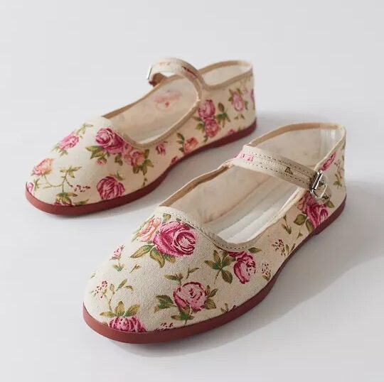 floral shoes from Urban Outfitters