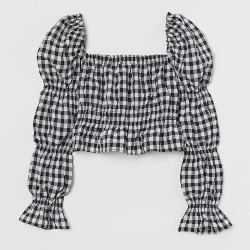 gingham puff sleeves from H&M