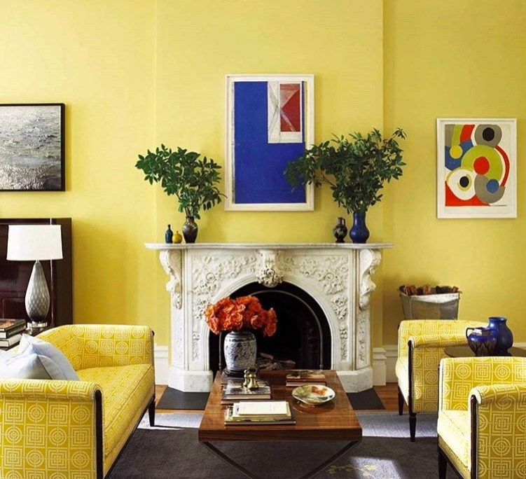 home decor ideas - monochromatic yellow room