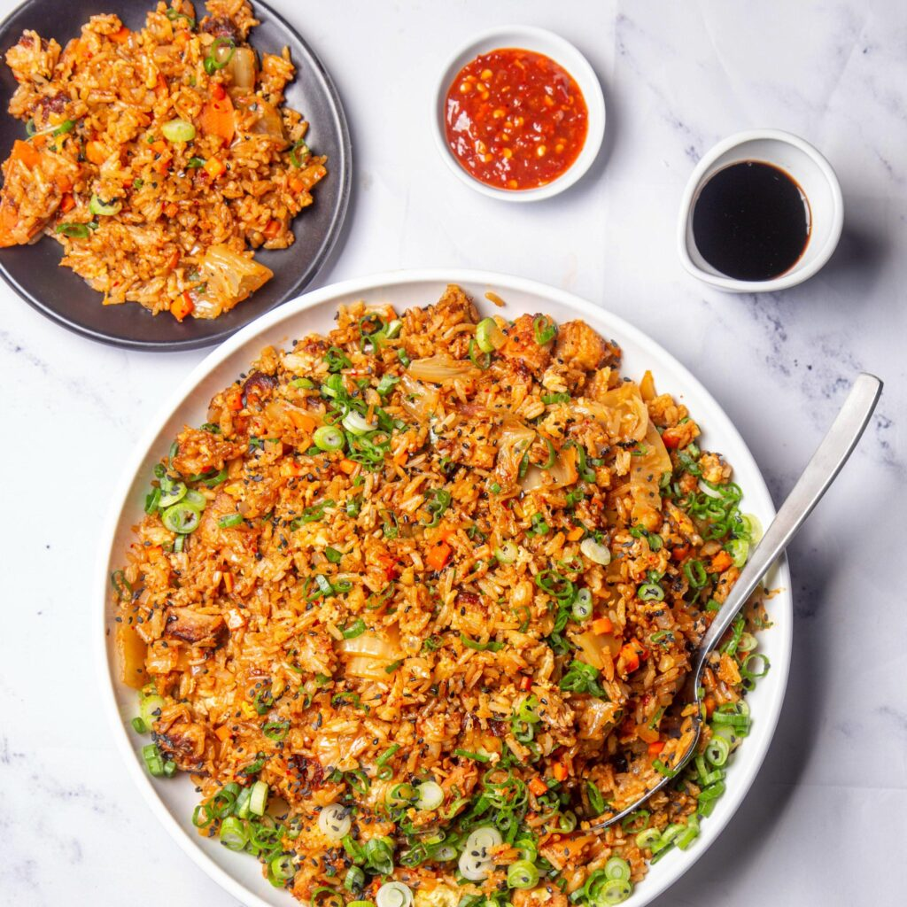 Kimchi pork belly fried rice meal kit from Nuoc Mam restaurant