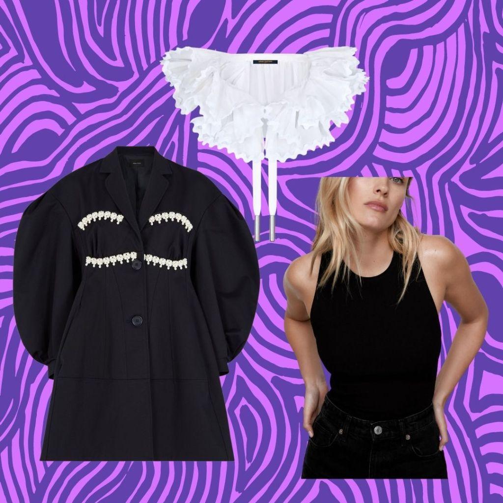 Simone Rocha jacket, LV collar for goth wardrobe