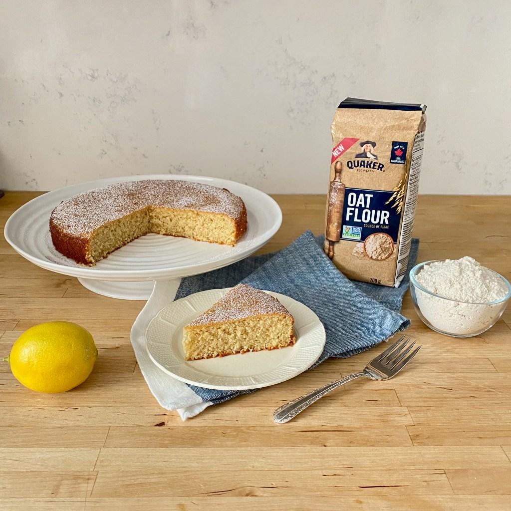 Anna Olson's lemon oat flour cake