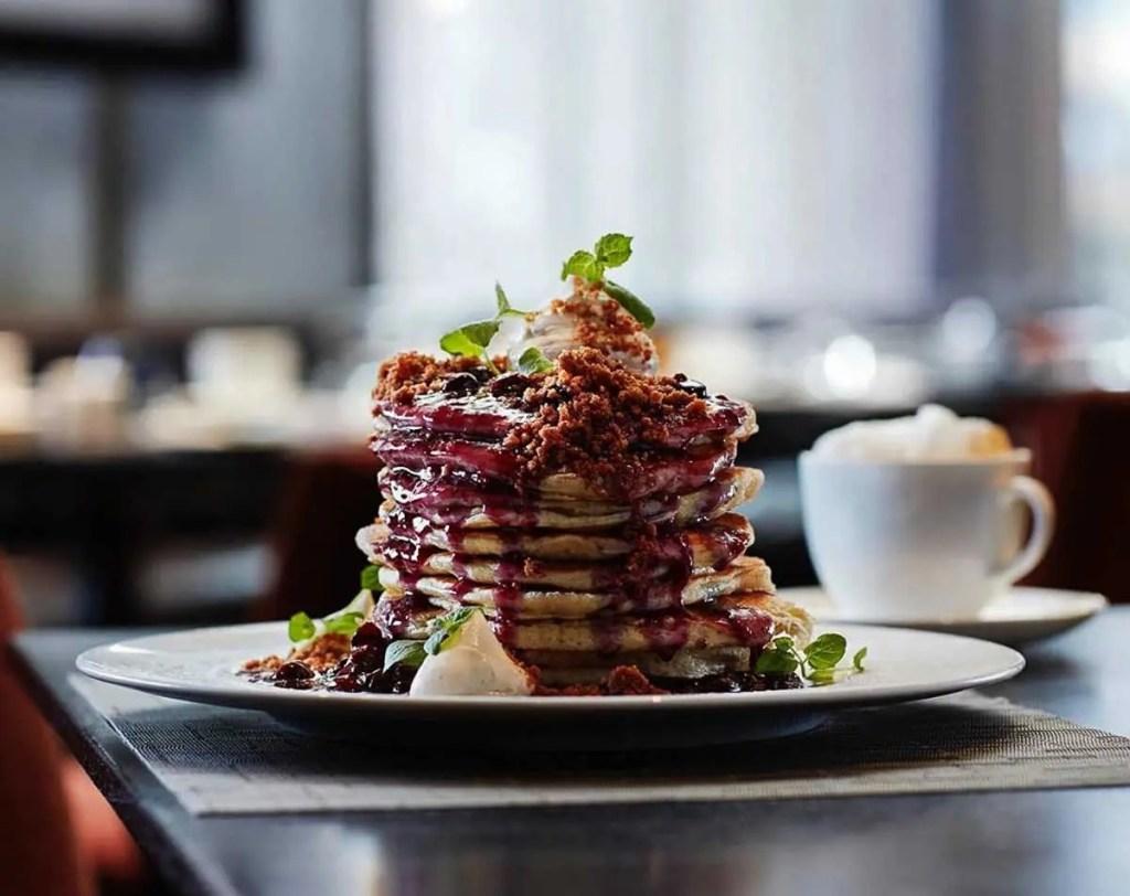 blueberry buttermilk pancake from ONE Restaurant