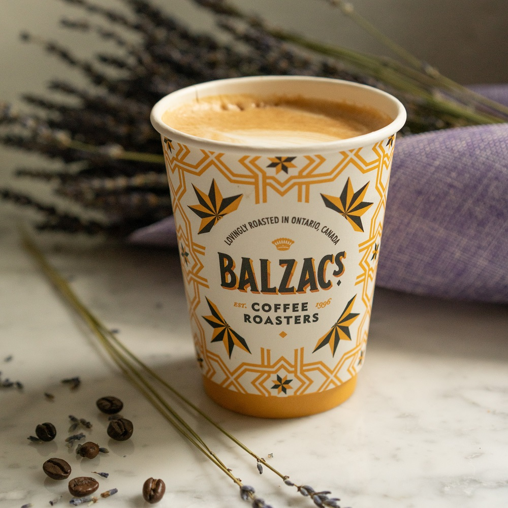 Balzac's lavender latte is available to buy until the end of August