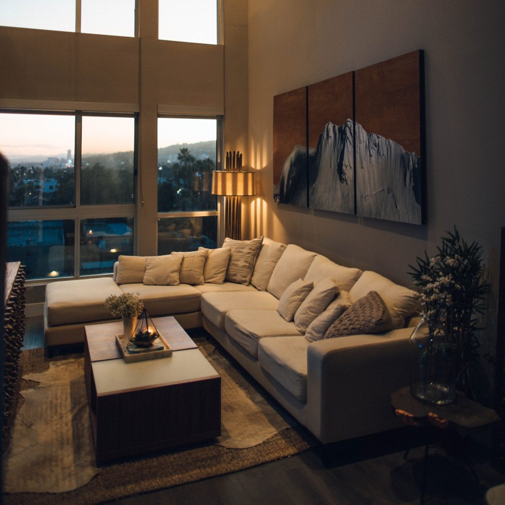 sleep-inducing space for evening routine