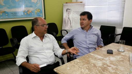 Manoel Cortez e Luiz Amorim durante visita do vice-presidente da GranBio à OAM