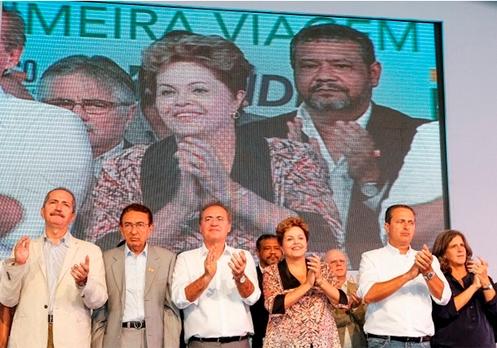 Renan participou da comitiva presidencial e foi elogiado por seu empenho em defesa dos plantadores de cana