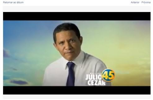 Júlio pede votos no Facebook