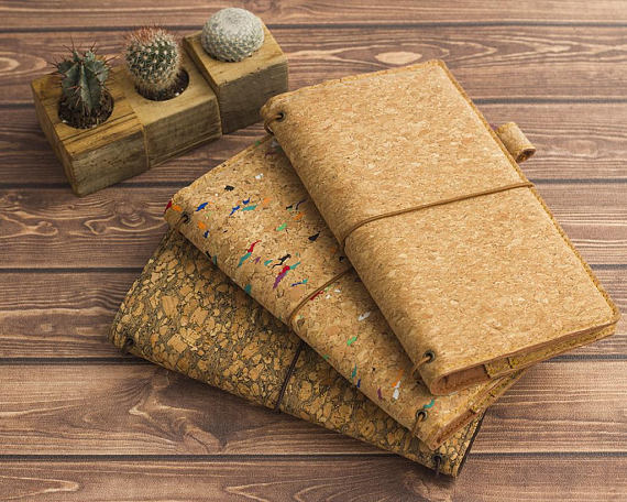 Cadeneta Notebooks - Cork Leather Vegan Traveler's Journal