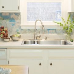 Kitchen Sink With Backsplash 2 Chair Table Set 10 Different Ways For Diy Elly 39s Blog