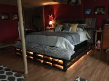 Top Diy Pallet Bed Projects - Elly'