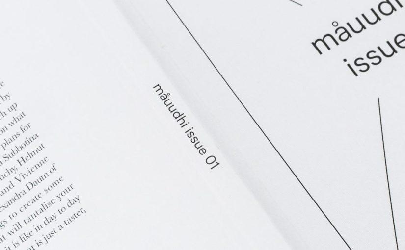 """""""Måuudhi"""" è il nuovo magazine che fa del minimalismo un punto fondante"""