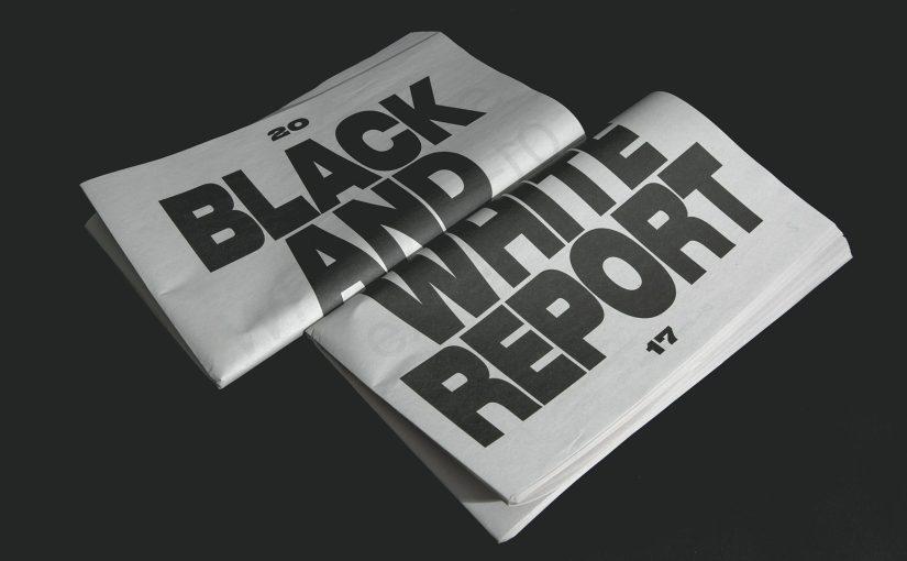 Il Black & Report è un prodotto editoriale per lo sviluppo della grafica e del design nelle regioni dell'Africa e del Sud Est Asiatico