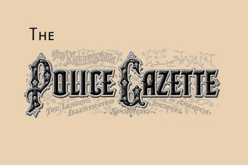 National Police Gazette la rivista ufficiale dei barbieri americani