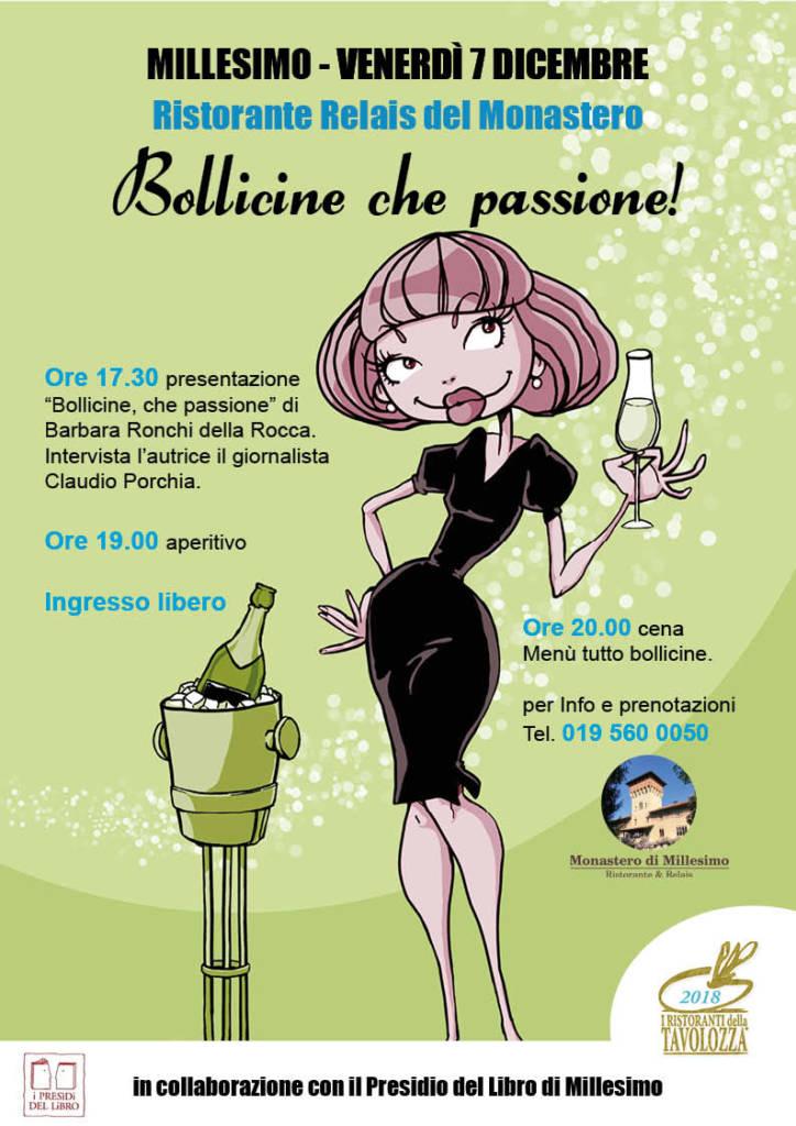 """Il 7 Dicembre """"Bollicine che passione!"""" con Barbara Ronchi Della Rocca a Millesimo (SV)"""