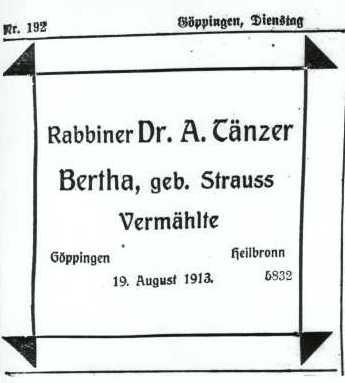 Rabbiner Dr Aron Tnzer
