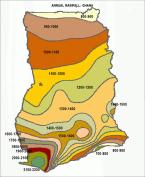 Annual rainfall in Ghana