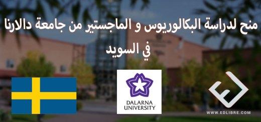 منح لدراسة البكالوريوس و الماجستير من جامعة دالارنا في السويد