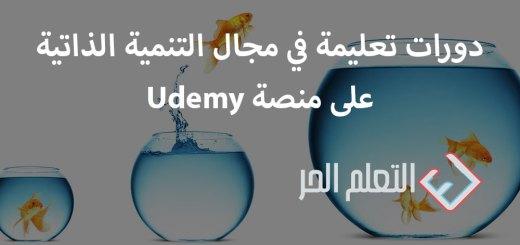 دورات تعليمة في مجال التنمية الذاتية على منصة udemy