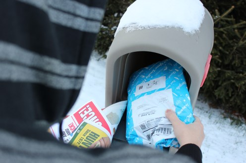 Grabbing the mail