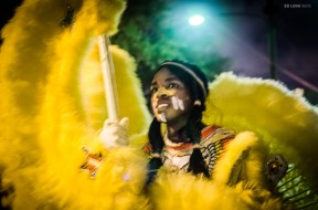 Mardi Gras Indian on St. Joseph's Night. New Orleans. March, 2012.