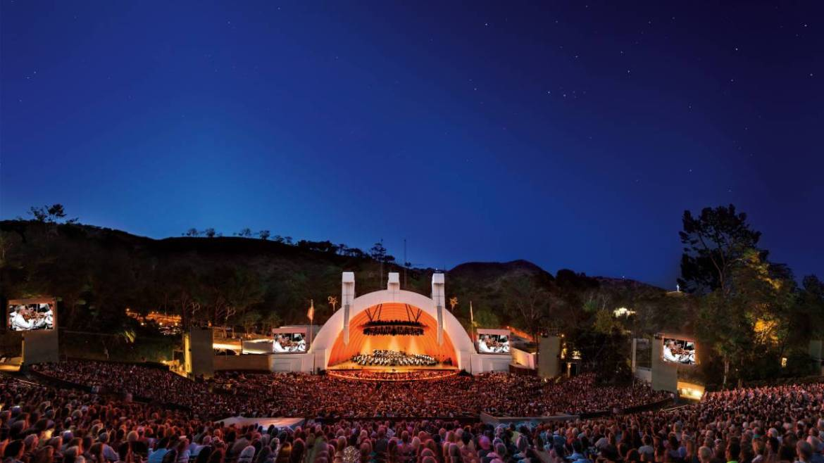 The County of Los Angeles' iconic Hollywood Bowl.